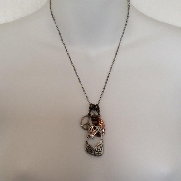 Lia sophia jewelry peace love charm pendant necklace poshmark lia sophia peace love charm pendant necklace aloadofball Choice Image